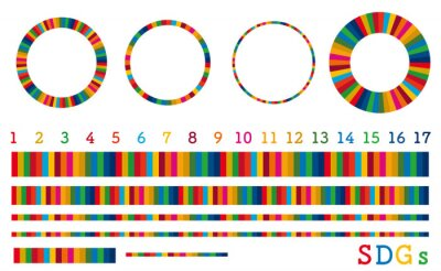 Fototapeta SDGsイメージのフレームなどの装飾素材セット