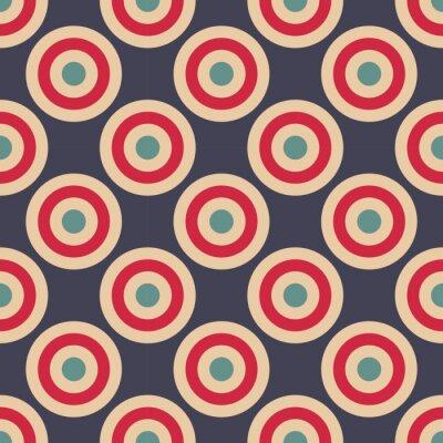 Fototapeta Vector moderní bezešvé barevné geometrické kruhy vzor, barva abstraktní geometrické pozadí, polštář vícebarevný tisk, retro textura, hipster módní design