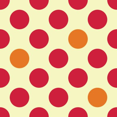 Fototapeta Vector moderní bezešvé barevné geometrické tečky vzor, barva abstraktní geometrické pozadí, polštář vícebarevný tisk, retro textura, hipster módní design