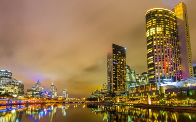 Fototapeta Yarra River Melbourne a panorama.
