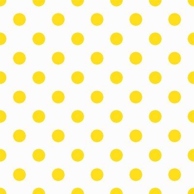 Fototapeta Yellow Polka Dot Pattern