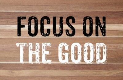 Fototapeta Zaměřte se na dobro: pozitivní motivaci