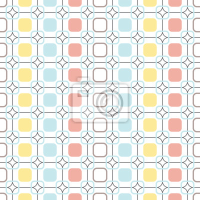 Fototapeta Zaoblené čtverce opakovatelné bezešvé vektoru vzor.