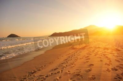 Fototapeta západ slunce na pláži