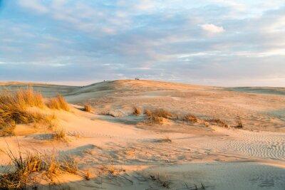 Fototapeta Západ slunce nad majestátními dunami na Jockey's Ridge State Park