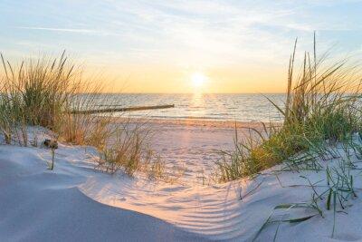Fototapeta Západ slunce u Baltského moře