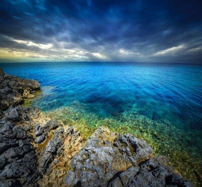 Fototapeta západu slunce a moře