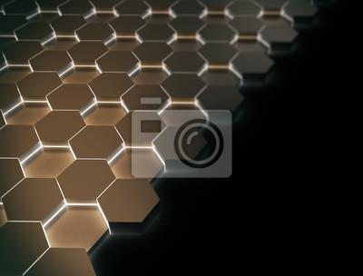 Zářící pozadí šestiúhelníku