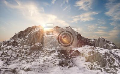 Fototapeta Zasněžených hor. Zimní krajina