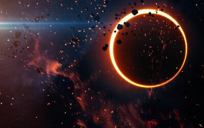 Fototapeta Zatmění Slunce Nad mlhovina. Prvky tohoto obrázku zařízený NASA