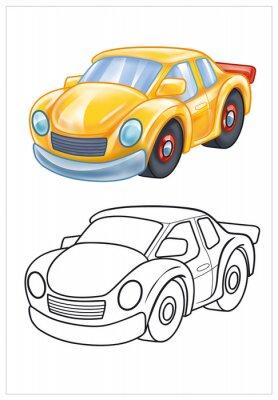 Fototapeta zbarvení žluté autíčko