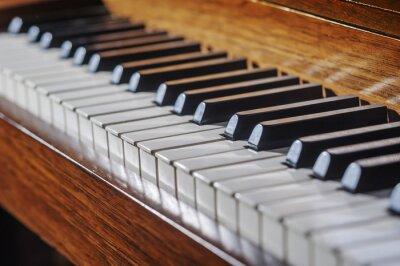 Fototapeta Zblízka klavírní klávesnice s omezenou hloubkou ostrosti