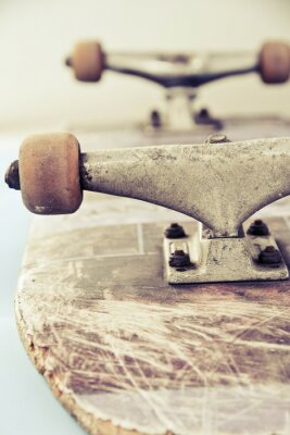 Fototapeta zblízka obraz skateboardu