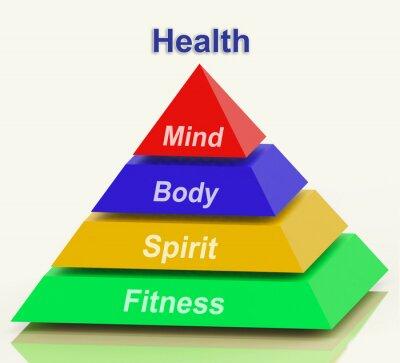 Fototapeta Zdraví Pyramid Prostředky mysli, těla Spirit Holistic Wellbeing