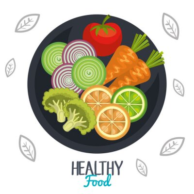 Fototapeta zdravý navrhování potraviny