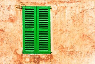 Fototapeta Zelenými okenicemi hauswand Mediterranean Living
