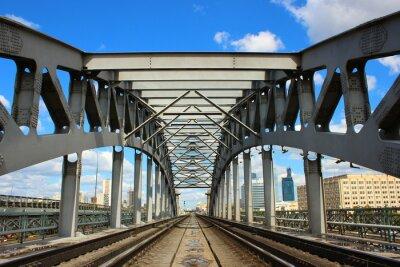 Fototapeta Železniční most v Moskvě