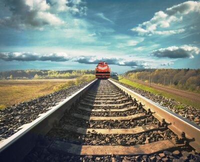 Fototapeta Železniční s nákladním vlakem