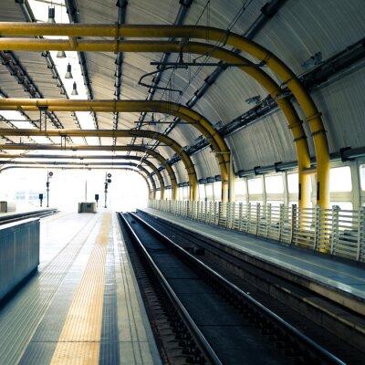 Fototapeta Železniční stanice