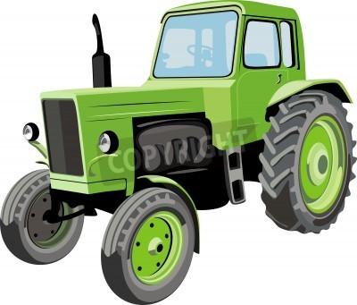 Fototapeta Zemědělské traktory