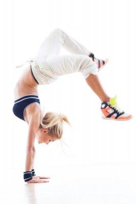 Fototapeta Žena breakdance