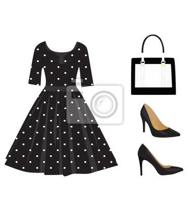 9c01fd287041 Fototapeta Žena černá outfit set