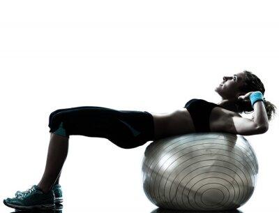 Fototapeta žena cvičení fitness cvičení míč