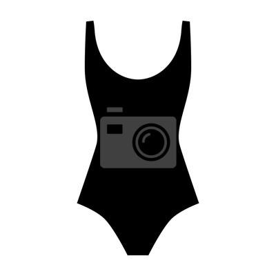 ee882ff831f Fototapeta Žena icon plavky vektor - módní design element. Žena plavky bytu  styl. Vektorové