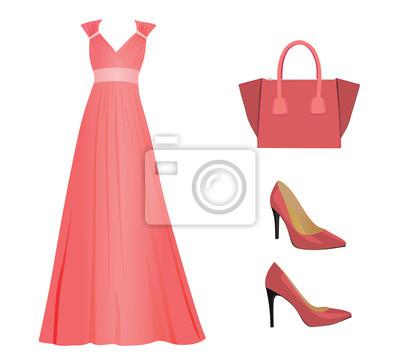 7f84e8730a58 Fototapeta Žena růžové oblečení
