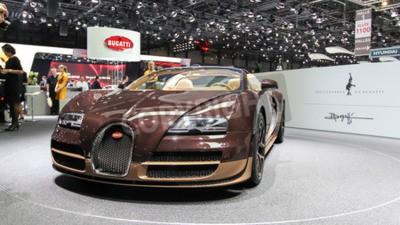 Fototapeta Ženeva, Švýcarsko - 02.03.2014: 2.014 Bugatti Veyron Rembrandt Bugatti prezentován na 84. mezinárodním autosalonu v Ženevě