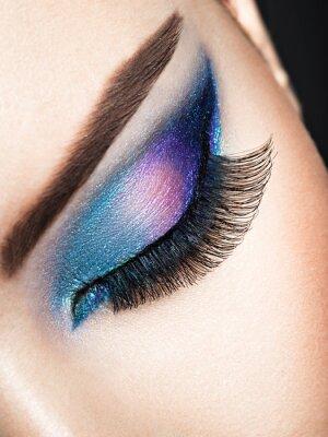 Fototapeta Ženské oko s modrým okem make-up