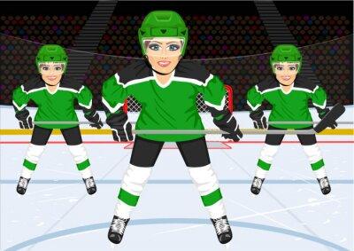 Fototapeta ženského hokejového týmu