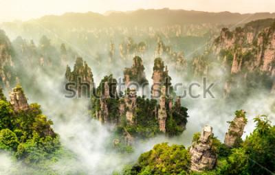 Fototapeta Zhangjiajie útesu hory a Wulingyuan Hunan Číny