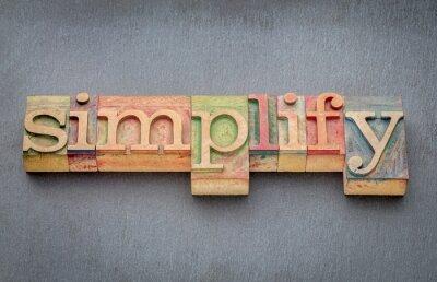 Fototapeta zjednodušit slovo v druhu dřeva