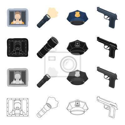 Zlocinec Ve Vezeni Baterka Policejni Cepice Pistole Policie