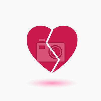 Zlomene Cervene Srdce Ve Dvou Zlomene Srdce Je Plne Nadeje