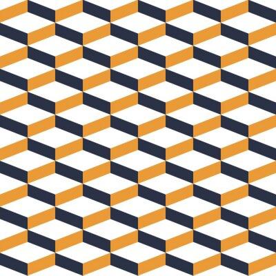 Fototapeta Žlutá Geometrická Illusion bezešvé vzor