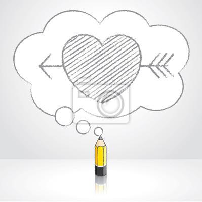 Zluta Olovena Tuzka Kresleni Sipkou Pres Srdce V Nadychane Cloud