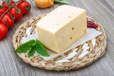 Fototapeta Žlutý sýr cihla