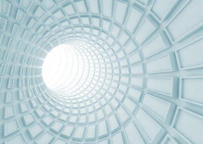 Fototapeta Zmodrání vnitřek tunelu s vytlačovaných dlaždice