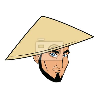 b0334c7539f Znak tvář samurai muž válečník design vektorové ilustrace fototapeta ...