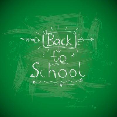 Fototapeta Zpátky do školy, chalkwriting na tabuli, vektorové eps10 obrázku.
