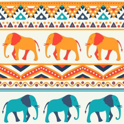 Fototapeta Zvířecí bezešvé vektoru vzor slona