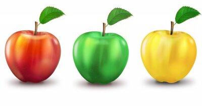 Nálepka 3 jablka červená, zelená, žlutá, volitelná