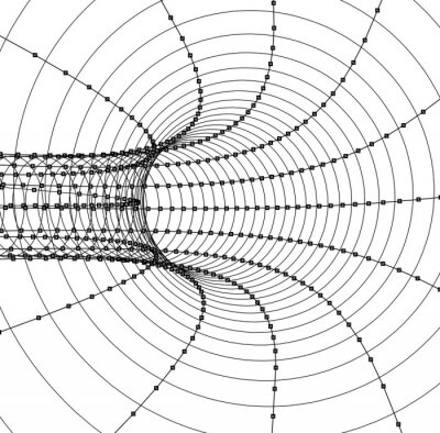 Nálepka 3d abstraktní tunel nebo trubka