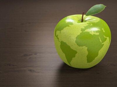 Nálepka 3d apple Světová zdravotnická