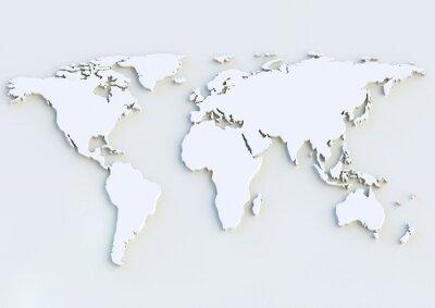 Nálepka 3D mapa světa - mapa světa 3D