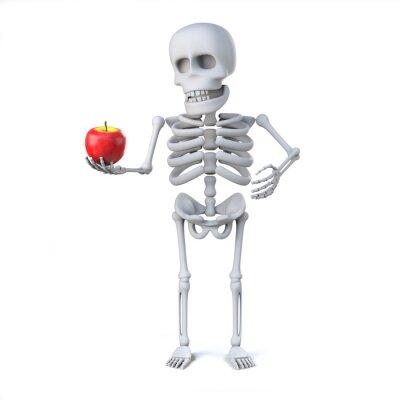 Nálepka 3d Skeleton přinesl jablko pro učitele