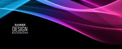 Nálepka Abstract background modern colorful wave banner background pattern