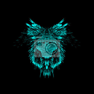 Abstract creative illustration with wildlife face.